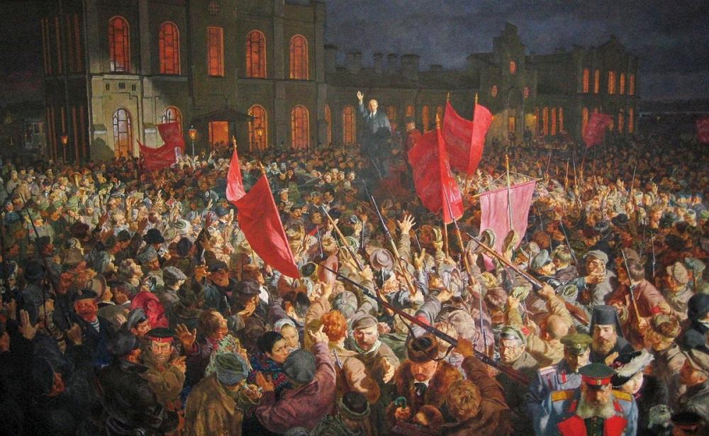 Неизвестный художник. Выступление Ленина