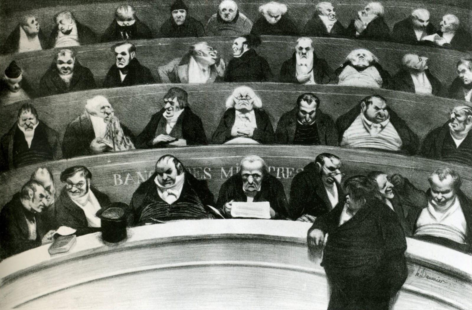 Оноре Домье. Чиновники. 1834