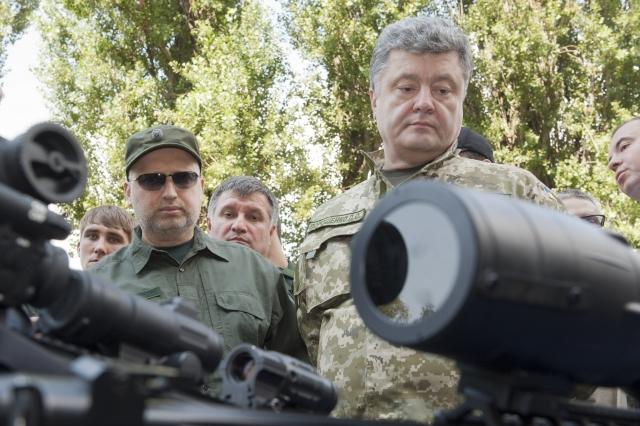 Александр Турчинов, Арсен Аваков и Петр Порошенко