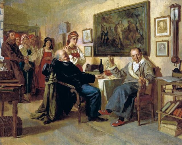 Николай Неврев. Торг. Сцена из крепостного быта. Из недавнего прошлого. 1866