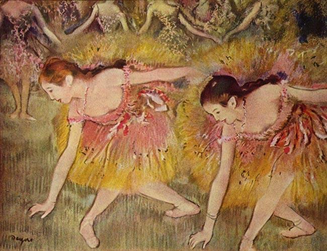 Эдгар Дега. Балерины на поклонах. 1885