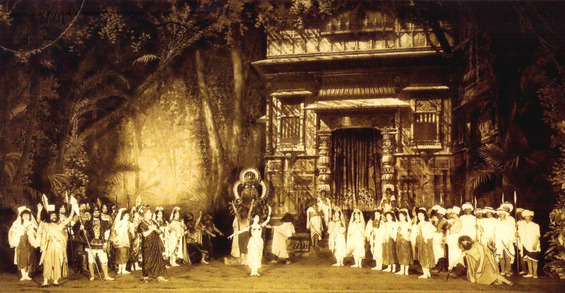 Баядерка. Хореограф Мариус Петипа. Сцена из I акта, 1900