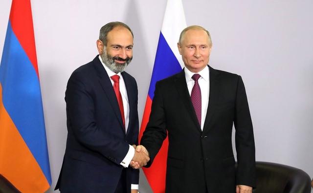 Путин и Пашинян обсудят двухстороннее сотрудничество в Москве