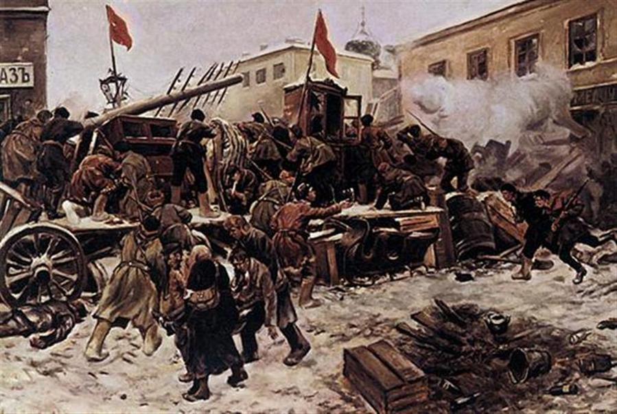 Иван Владимиров. Баррикады на Пресне. До 1918
