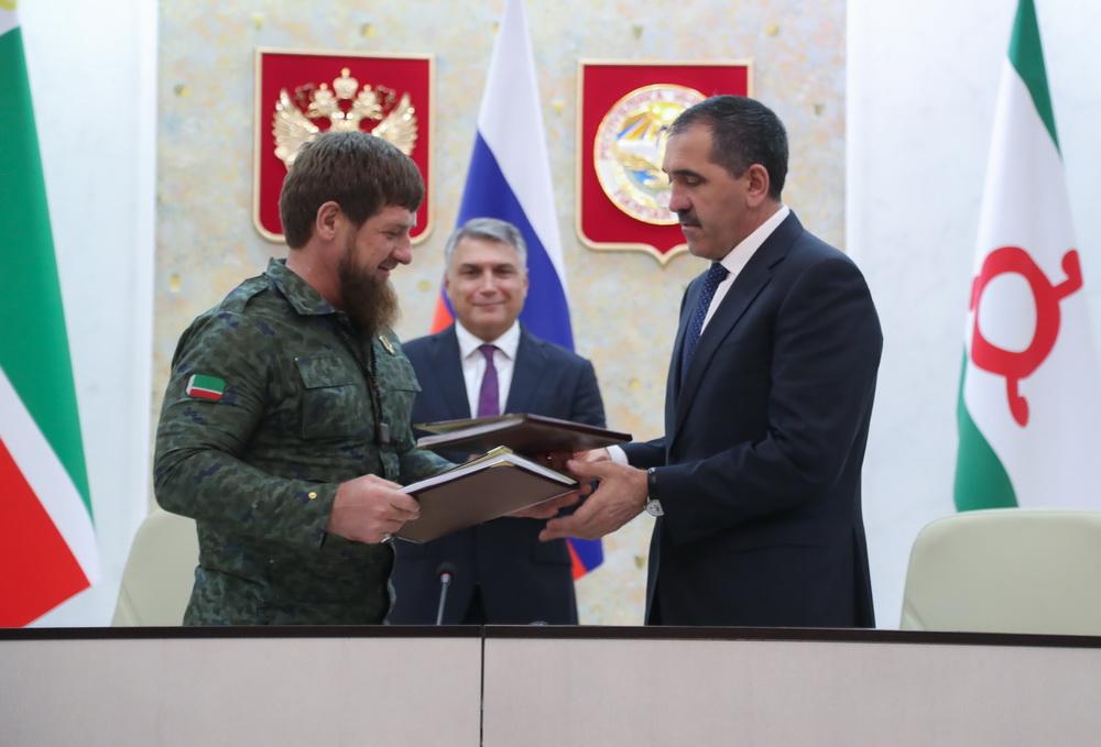 Рамзан Кадыров и Юнус-Бек Евкуров