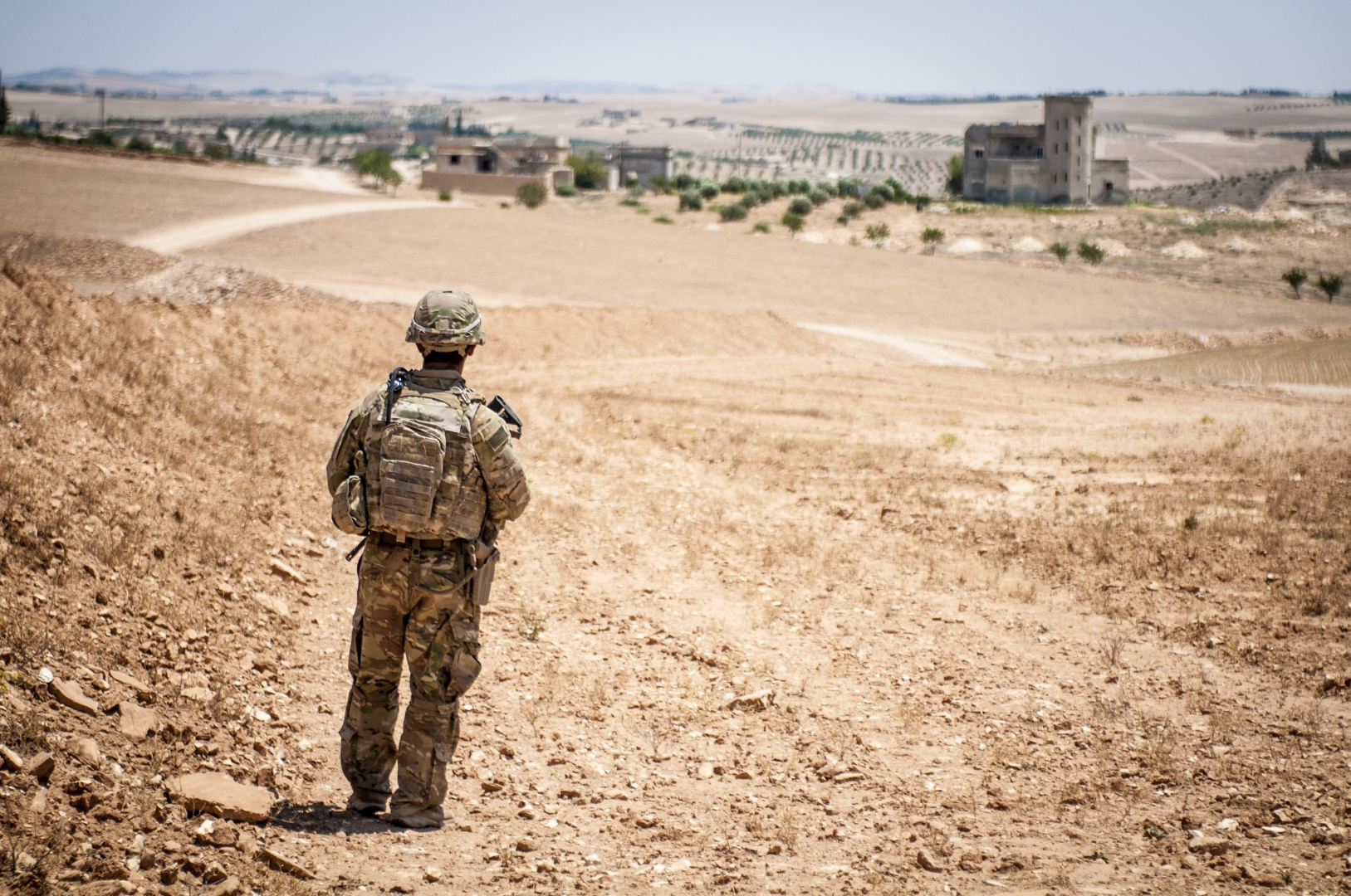Американский солдат под Манбиджем