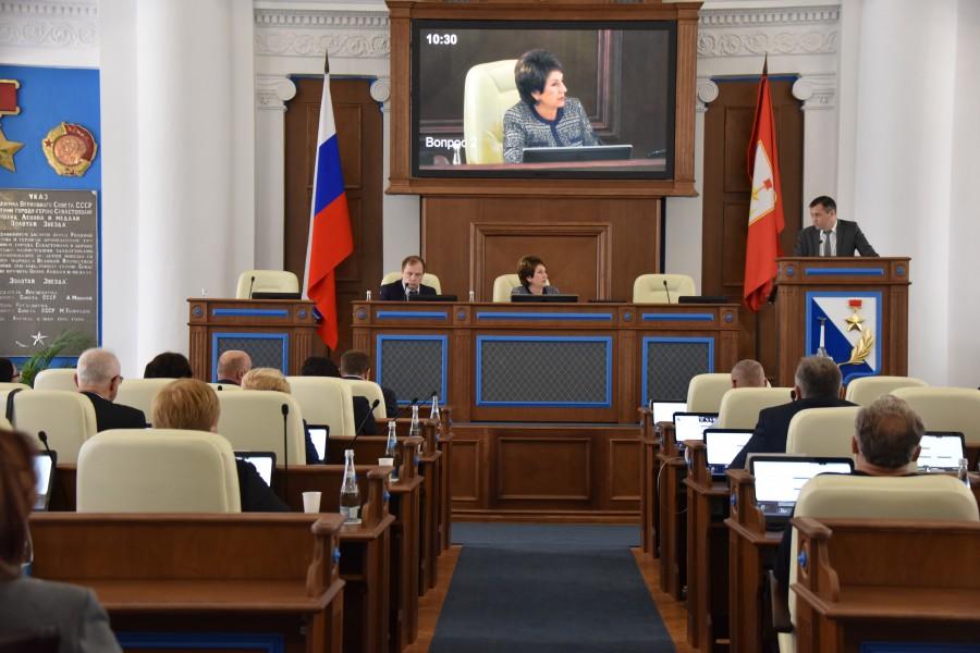Заседание Заксобрания Севастополя