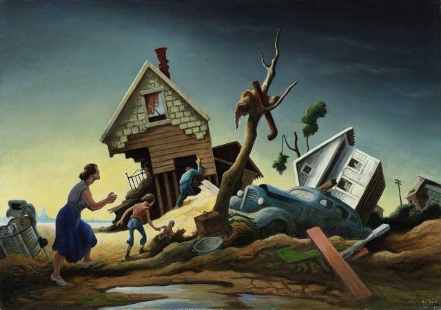 Томас Гарт Бентон. Наводнение. 1951