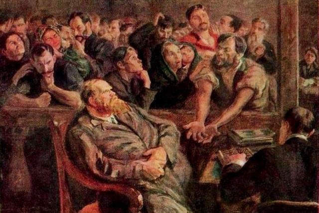 Николай Верхотуров. Расчёт (Перед стачкой). 1910