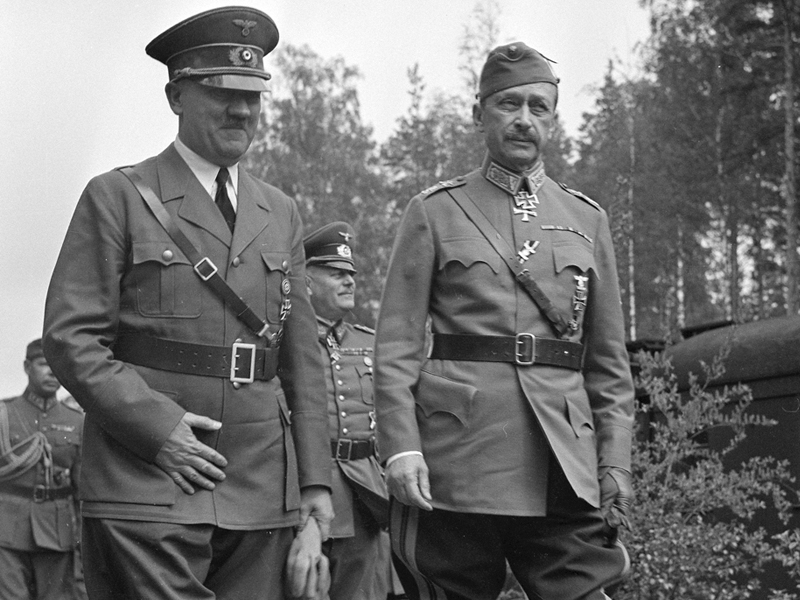 Маннергейм встречает Гитлера. 1942