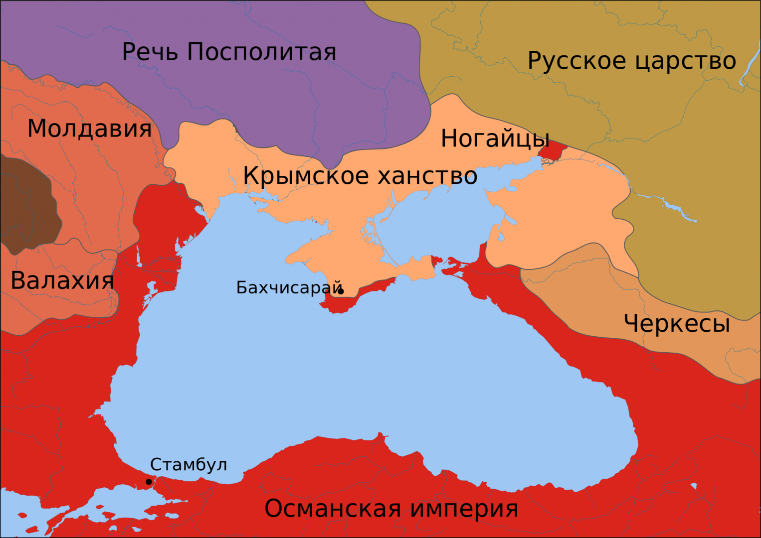 Карта Чёрнного моря