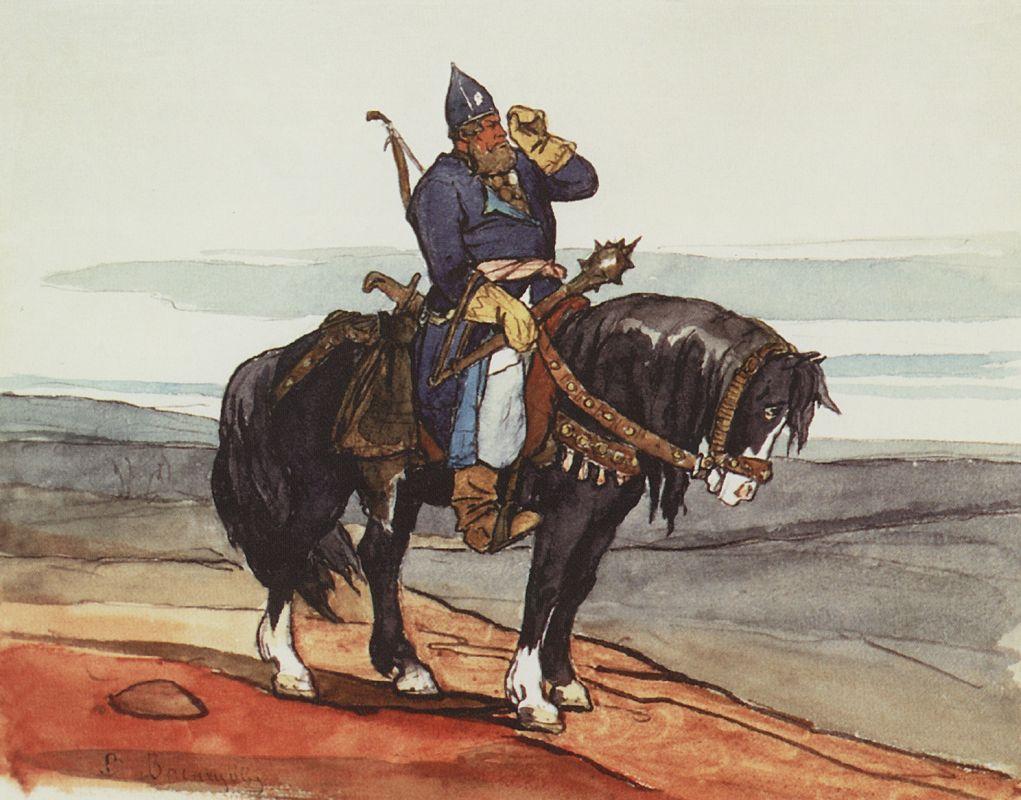 Виктор Васнецов. Богатырь. 1870-е