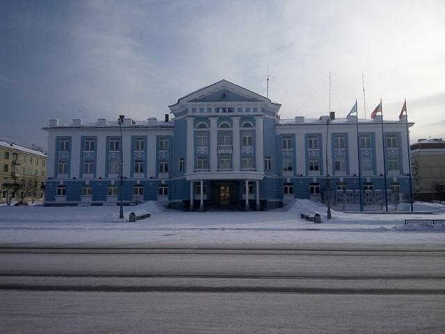 Административное здание горно-химического комбината в Железногорске