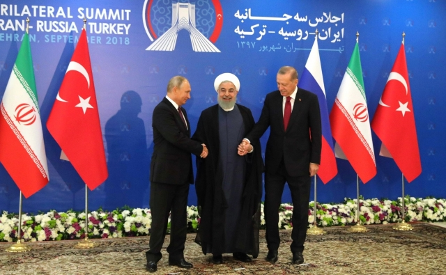 Владимир Путин, Хасан Рухани и Реджеп Тайип Эрдоган