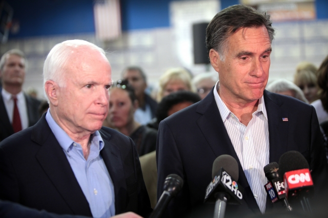 Джон Маккейн и Митт Ромни