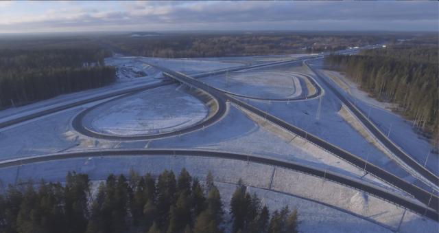Развязка на реконструированном участке трассе «Скандинавия»
