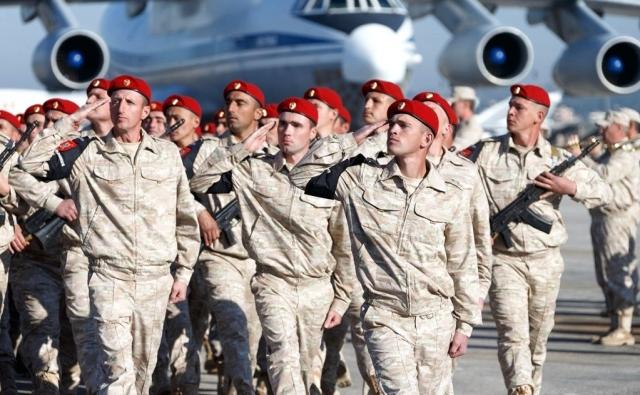 Отряд военной полиции на авиабазе Хмеймим