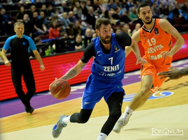 Матч группового этапа Кубка Европы по баскетболу, сезона 2018-2019, между БК Зенит (Санкт-Петербург, Россия) и БК Цедевита (Загреб, Хорватия)