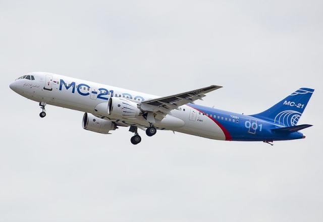 Полёт самолёта МС-21