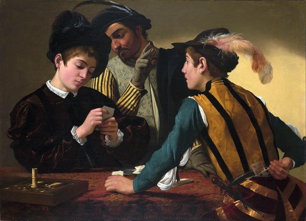 Караваджо. Шулера. 1596