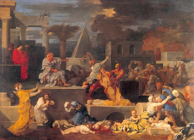 Себастьян Бурдон. Избиение младенцев. Начало 1640-х