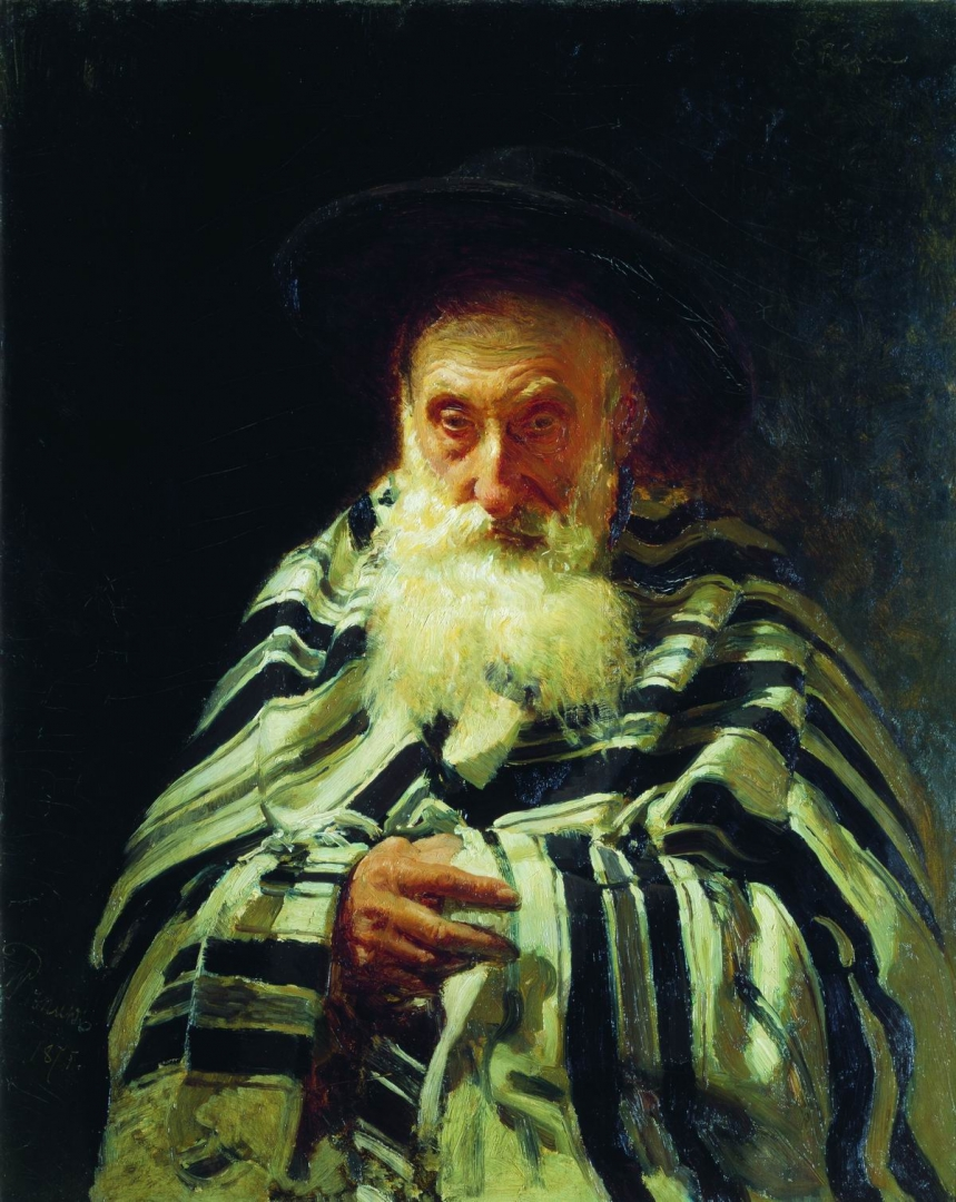 Илья Репин. Еврей на молитве. 1875