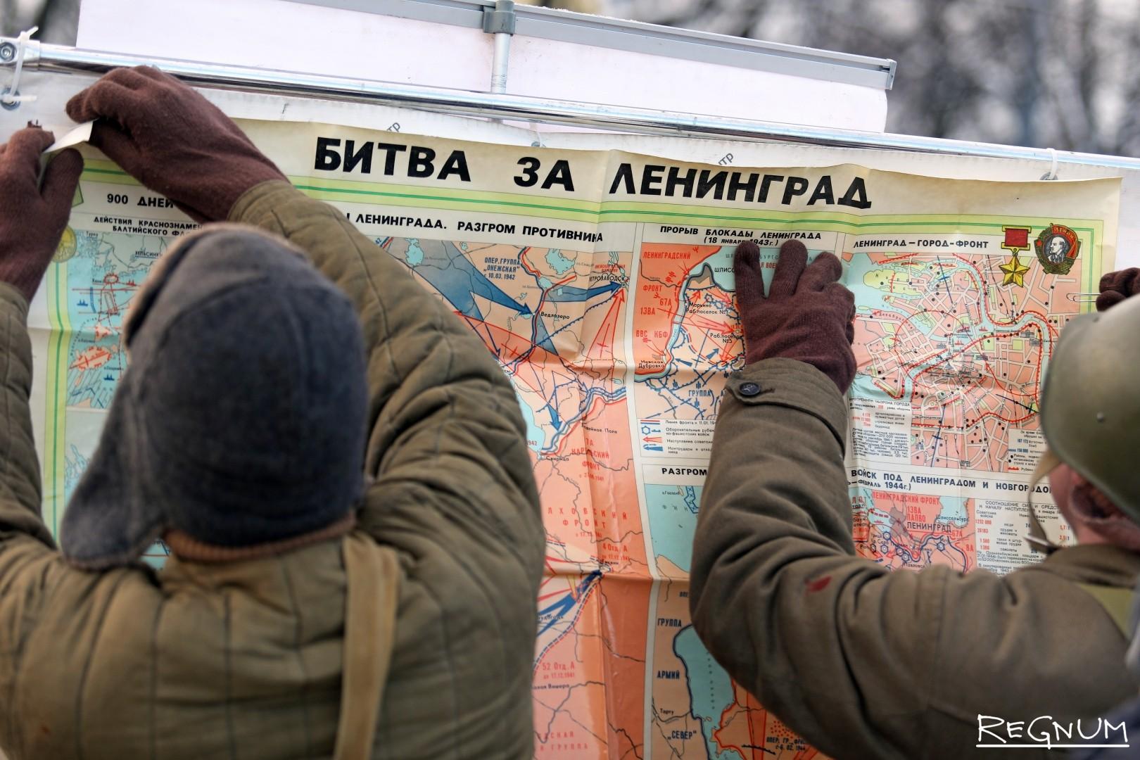 Карта битвы за Ленинград