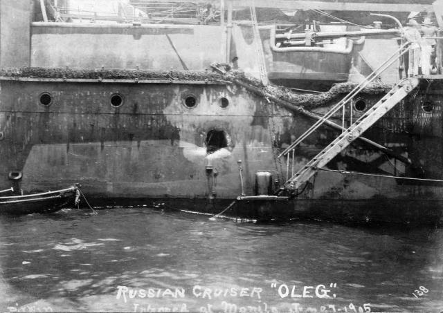 Крейсер I ранга «Олег» после Цусимского боя. 1905