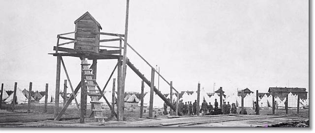 Лагерь заключенных и пленных красноармейцев на Кегострове. 1919 год