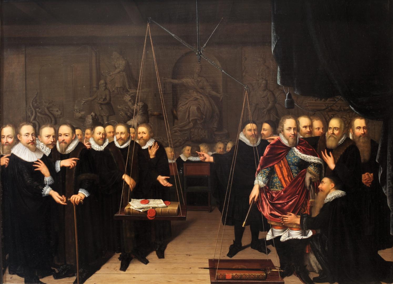 Абрахам ван дер Эйк. Аллегория о споре между ремонстрантами и антиремонстрантами. 1618
