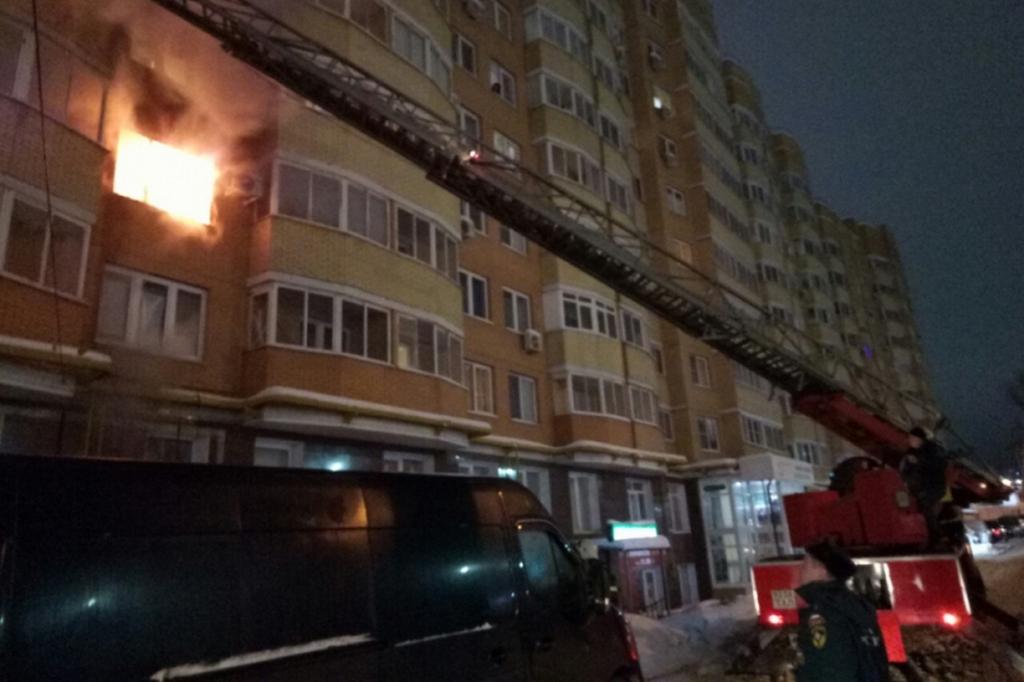 Пожар в многоэтажном доме Тулы