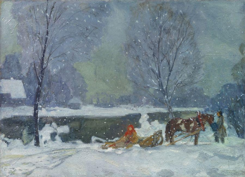 Бобровский Г. М. Зима. Снег идет
