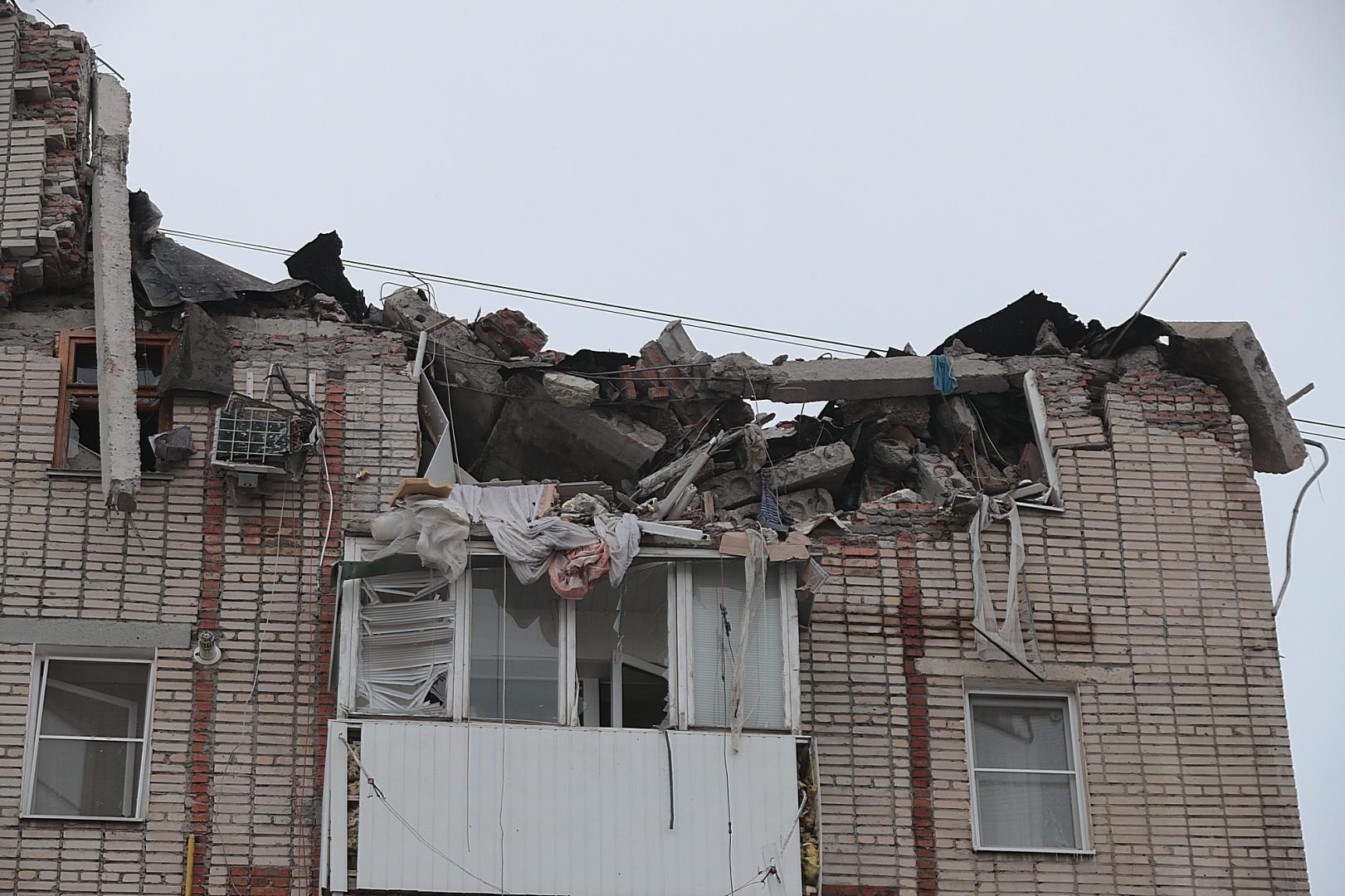 Дом после взрыва в г. Шахты
