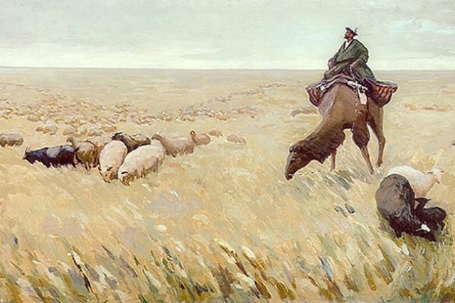 Молдахмет Кенбаев. Песня чабана (фрагмент). 1956
