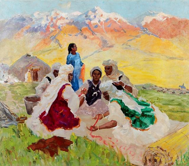Молдахмет Кенбаев. Кошмоделание. 1958