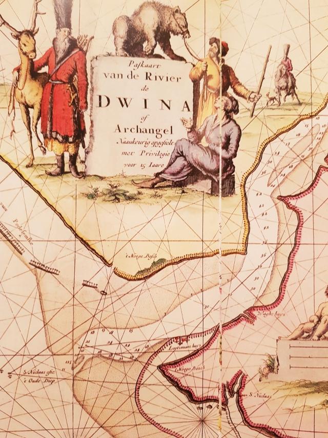Голландская карта устья Северной Двины XVII века