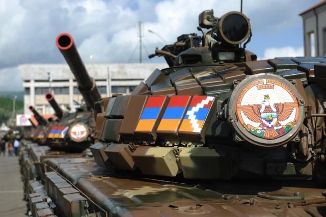 Танк Армии обороны Нагорного Карабаха. Республика Арцах
