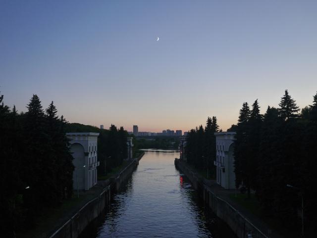 Утерянный вид на Карамышевский гидроузел, июнь 2017 года
