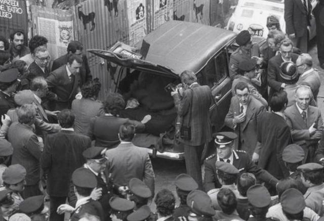 Тело Альдо Моро в багажнике машины. 1978