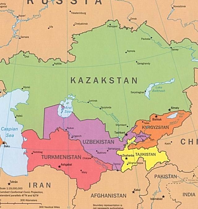 Туркестан. Карта