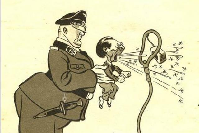 Геббельс. Советская карикатура