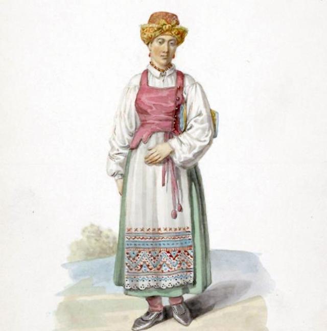 Фёдор Солнцев Витебская мещанка (фрагмент). 1844 г