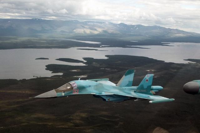 Названа причина столкновения двух Су-34 на Дальнем Востоке
