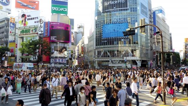 Японцы на улицах Токио