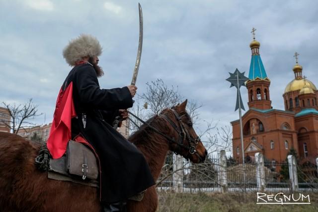 Крещенские купания в Краснодаре: без снега, но с казаками