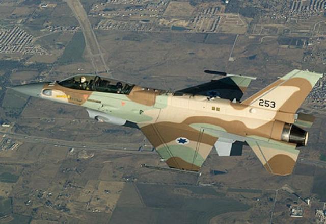 Истребитель F-16 израильских ВВС