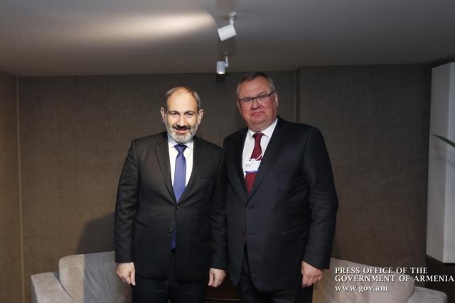 Пашинян обсудил с Костиным и Титовым инвестиции в Армению