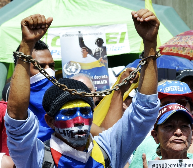 Венесуэльская оппозиция на митинге