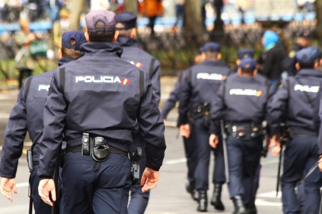 В Мадриде подрались таксисты и полицейские