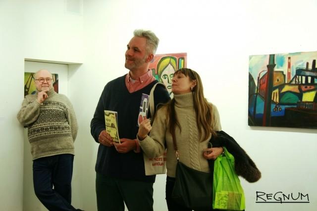 Григорий Кацнельсон на открытии выставки — розыгрыш книг